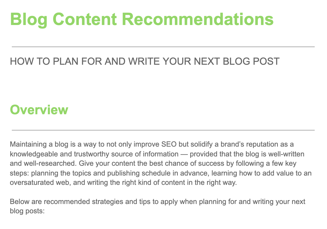 How to write a blog white paper