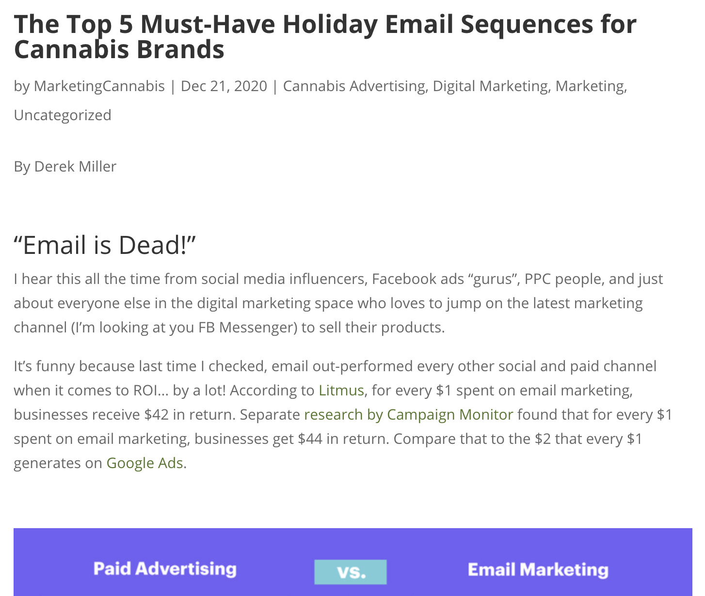 The Top 5 Must-Have Holiday Email Sequences for Cannabis Brands